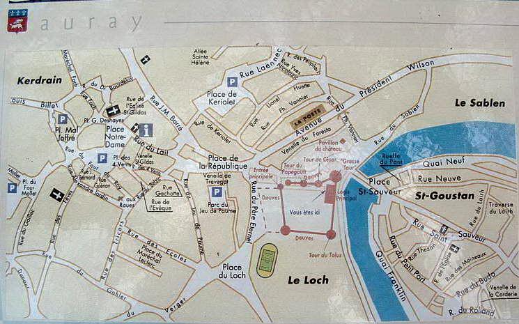 Plan Du Centre Ville D Auray