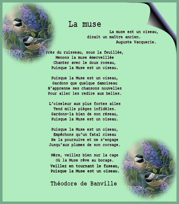 La muse, Théodore de Banville. dans Textes choisis La-muse