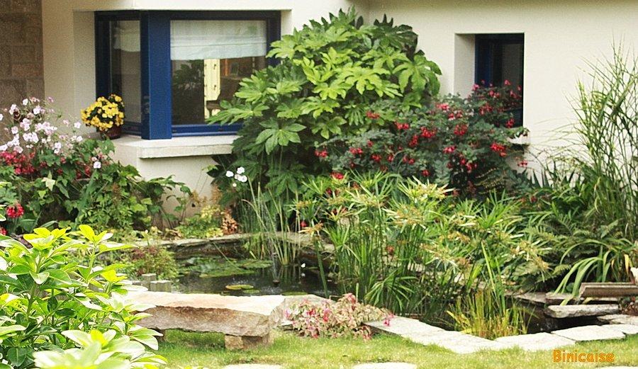 Jardin d'eau. dans Jardins et maisons Bassin