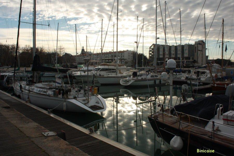 Reflets dans le port. dans La Rochelle img_7440c