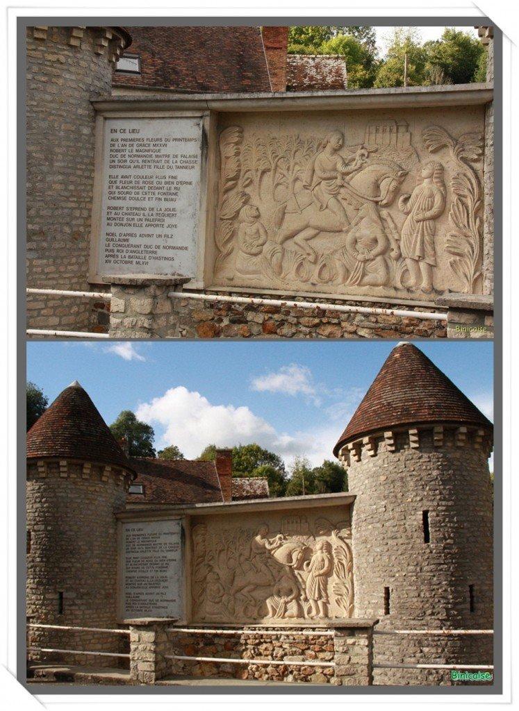 Arlette de Falaise, mère de Guillaume le Conquérant . dans Normandie montage