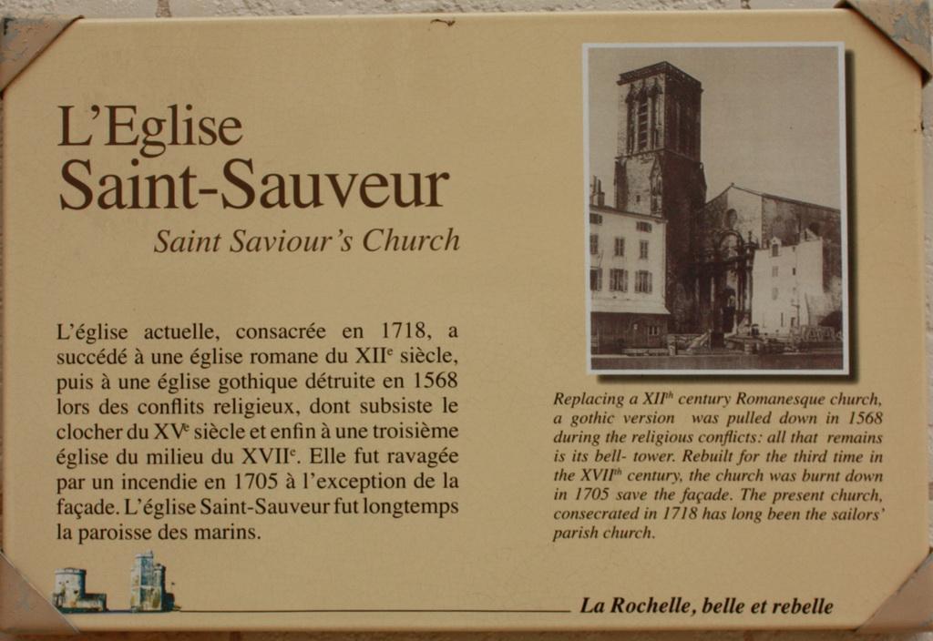 La Rochelle Eglise Saint Sauveur dans La Rochelle copie-de-eglise-saint-sauveur-16