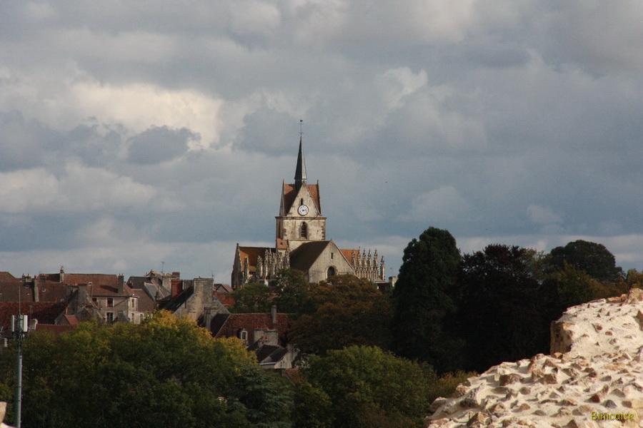 Falaise, vue depuis le chateau. dans Normandie falaise-04_redimensionner