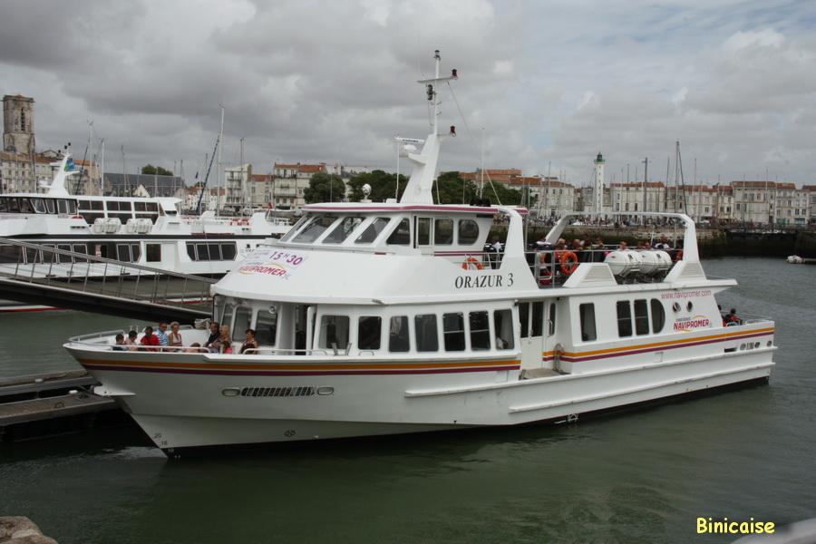 Si nous partions faire une promenade . dans La Rochelle bateau-de-promenade